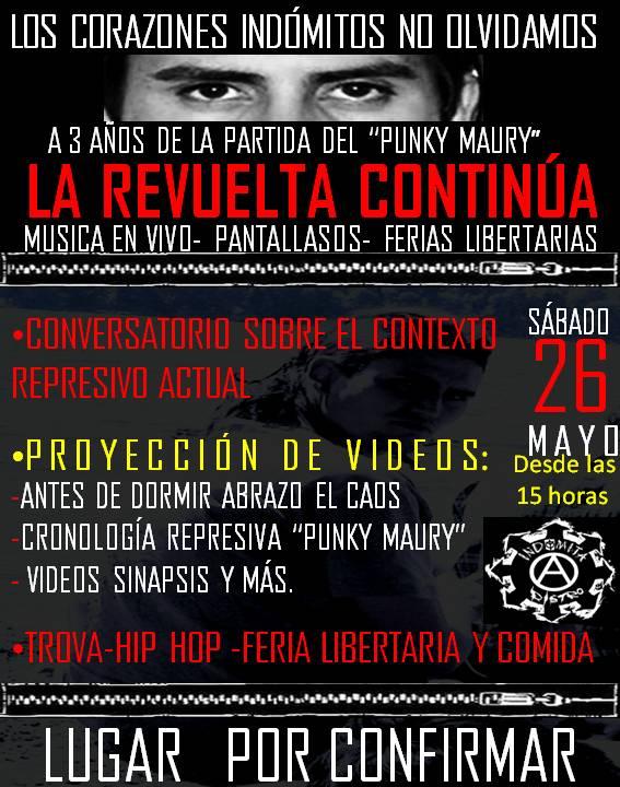 Chile: Conmemoración a tres años de la partida del Maury en Temuco